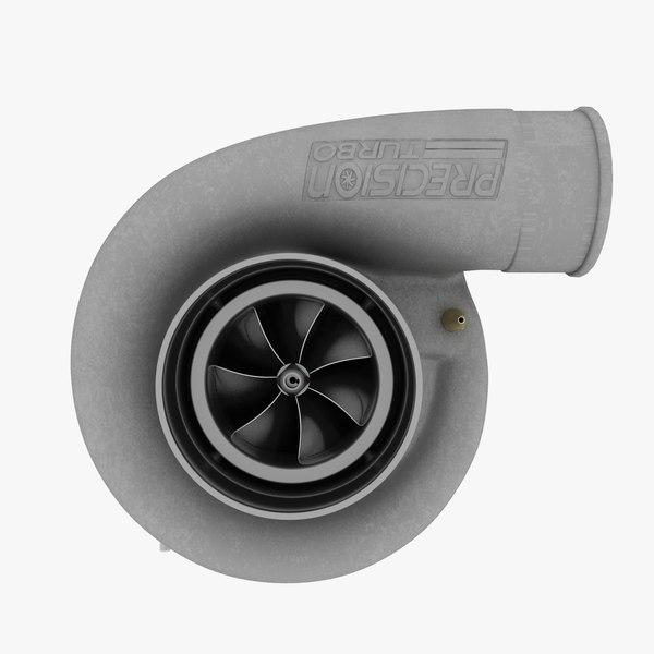turbocharger compressor wheel 3d max