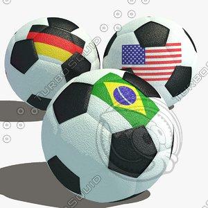 3d soccer football ball