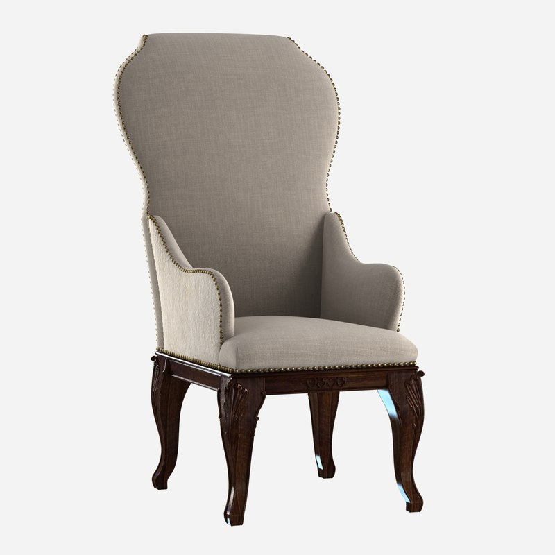 chair custom antique dining 3d max