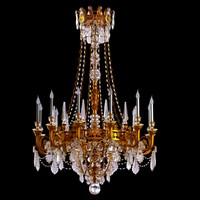 3ds chandelier big antique brass