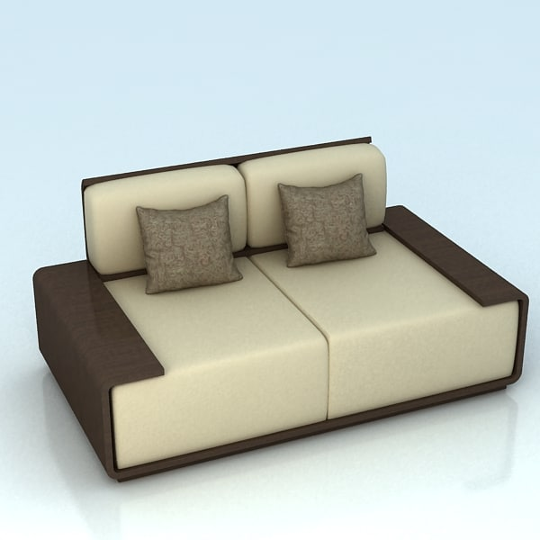 3d model 2 seater sofa