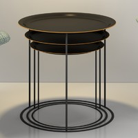 3d boconcept cartagena nesting tables model