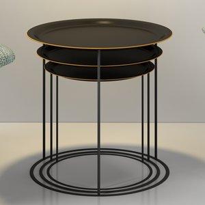 3d boconcept cartagena nesting tables model