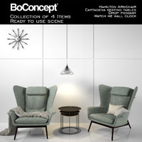 boconcept hamilton armchair accessories 3ds