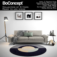 3d model boconcept indivi 2 seater
