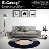 Boconcept Indivi 2 Seater Sofa with full scene
