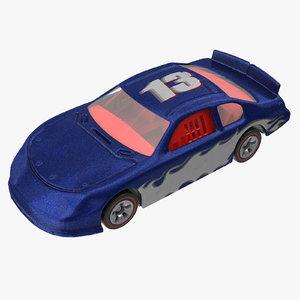 toy racecar 02 3d model