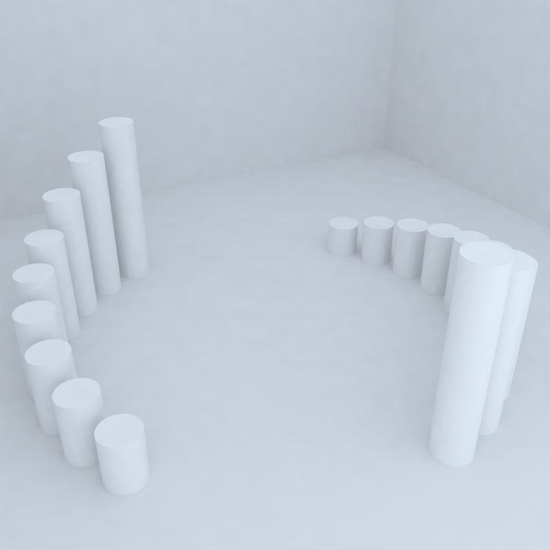 3d model of park details