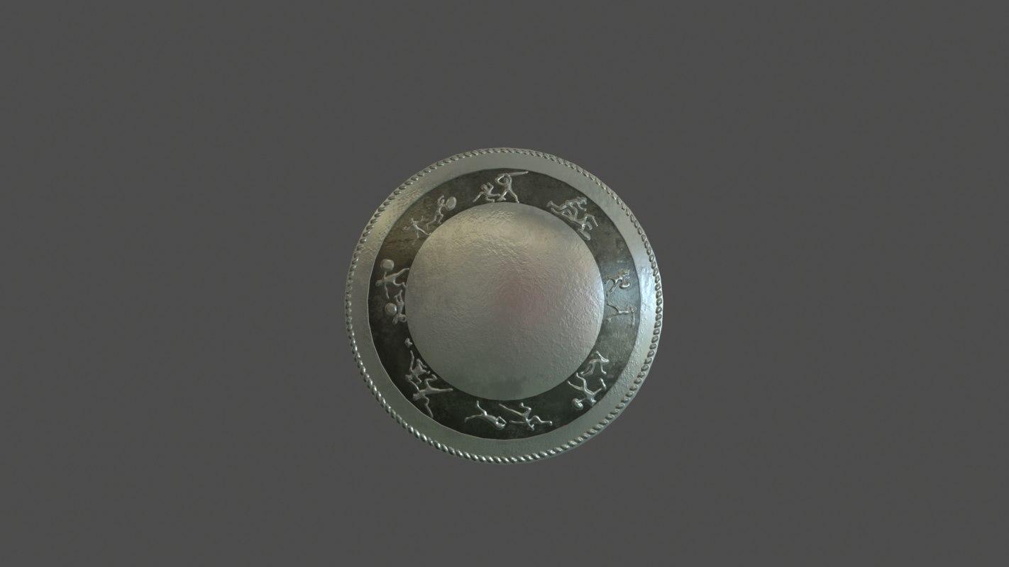gladiator shield 3d max