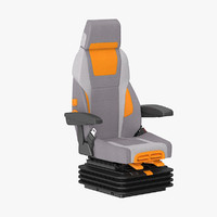 3d model vehicle seat
