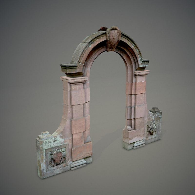 arched gateway 3d model