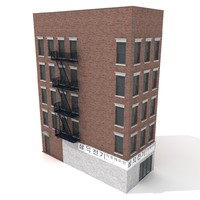 american tenement house 3d model