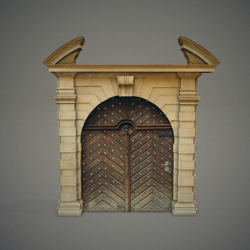 ornate door 3ds