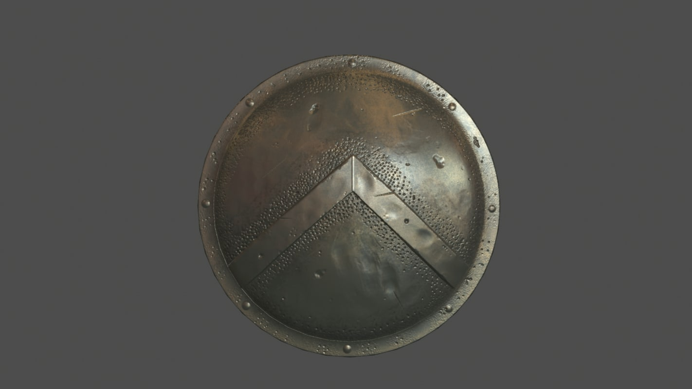 spartan shield 3d model