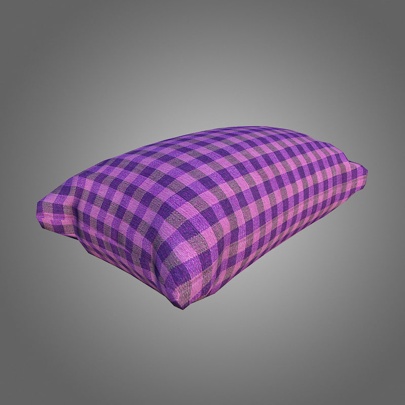 pillow low-poly 3d 3ds