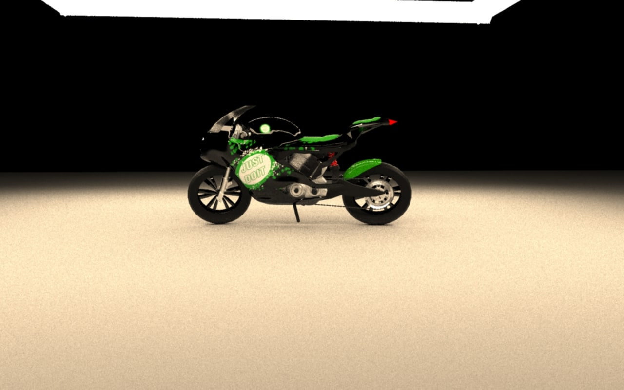 3d model of motorcycle