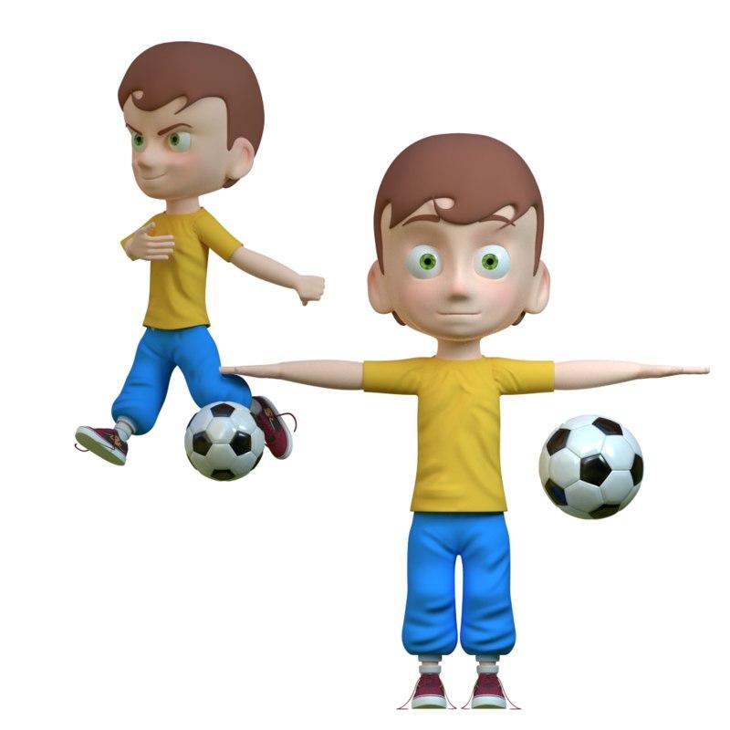 boy kid human 3d model