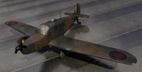 plane percival proctor 3d model