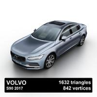 3d model of 2017 s90 sedan