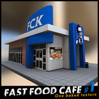 cafe restaurants 3d model
