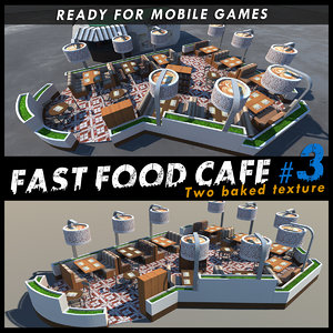 3d model cafe restaurants