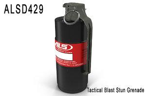 grenade alsd 3d max