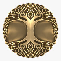 celtic ornament tree - 3d obj
