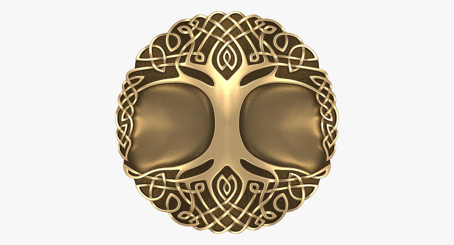 celtic ornament tree - 3d obj