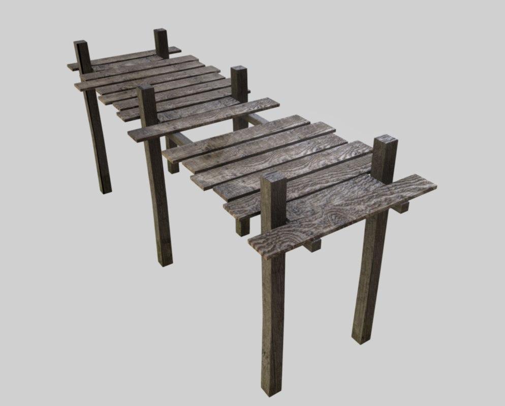 obj wooden pier