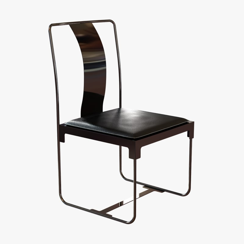 chair mingx metal 3d model