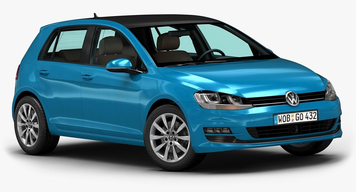 3d model 2013 golf 5-door