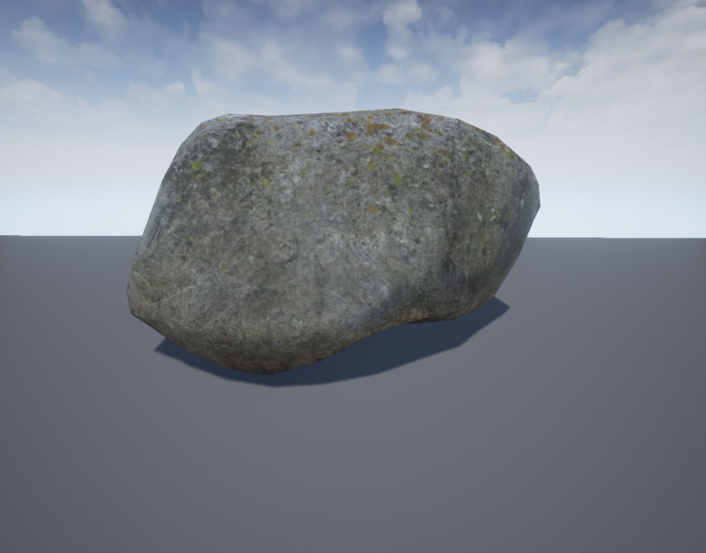 photorealistic rock 3d obj