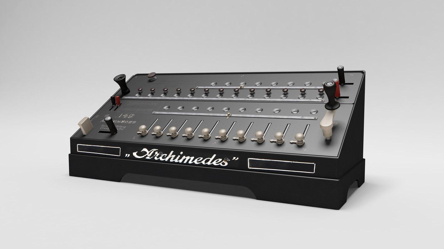 3d model archimedes calculator