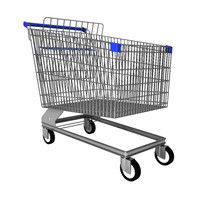 3d trolley groceries shopping model