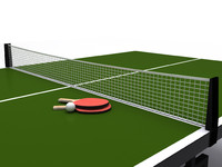 table tennis ping pong 3d model