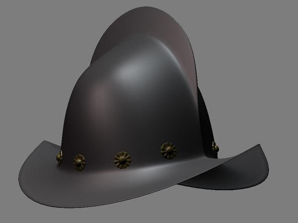 free morion helmet 3d model