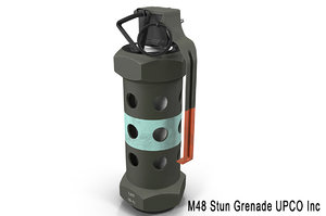 grenade m84 stun 3d max