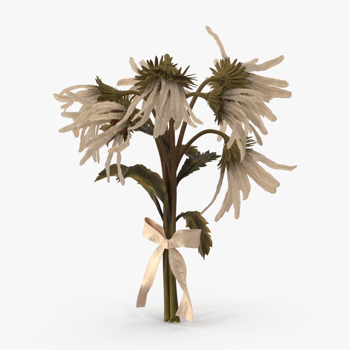 3d dead daisy bouquet