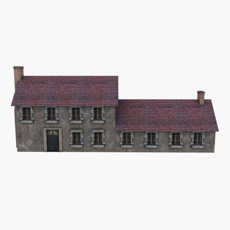 3d model european country house