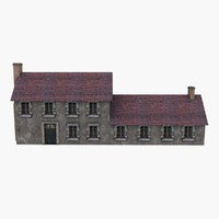 3d model european country house