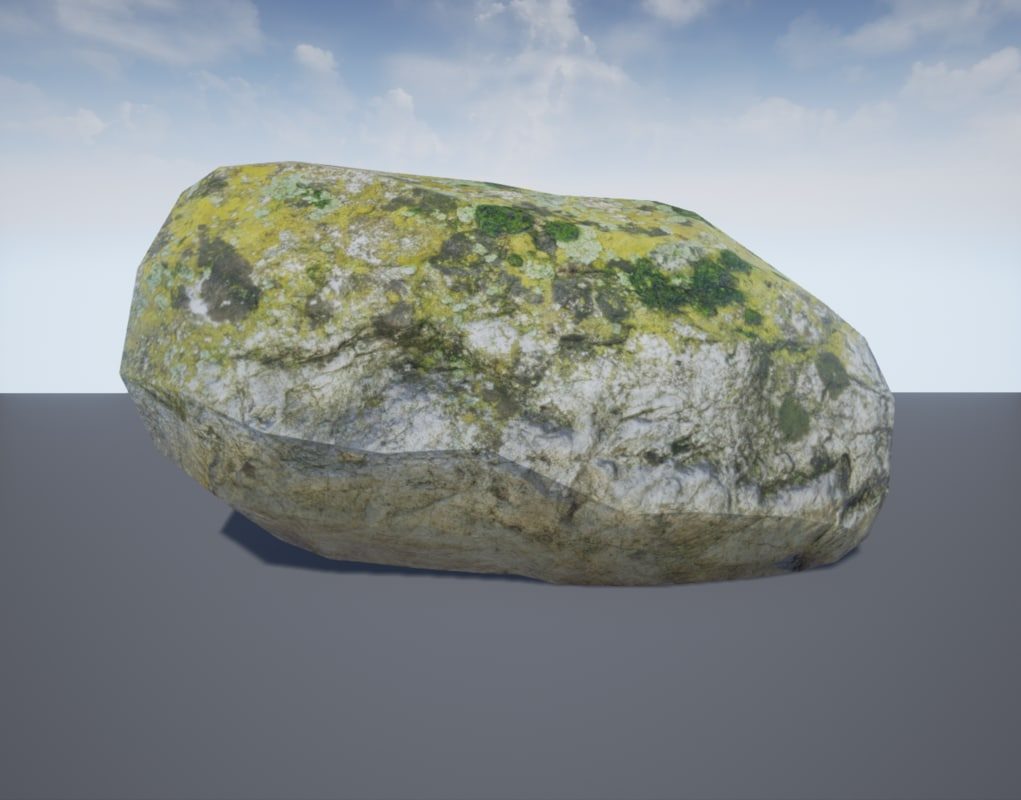 photorealistic rock 4 3d fbx