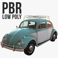 Volkswagen Beetle Classic Low Poly