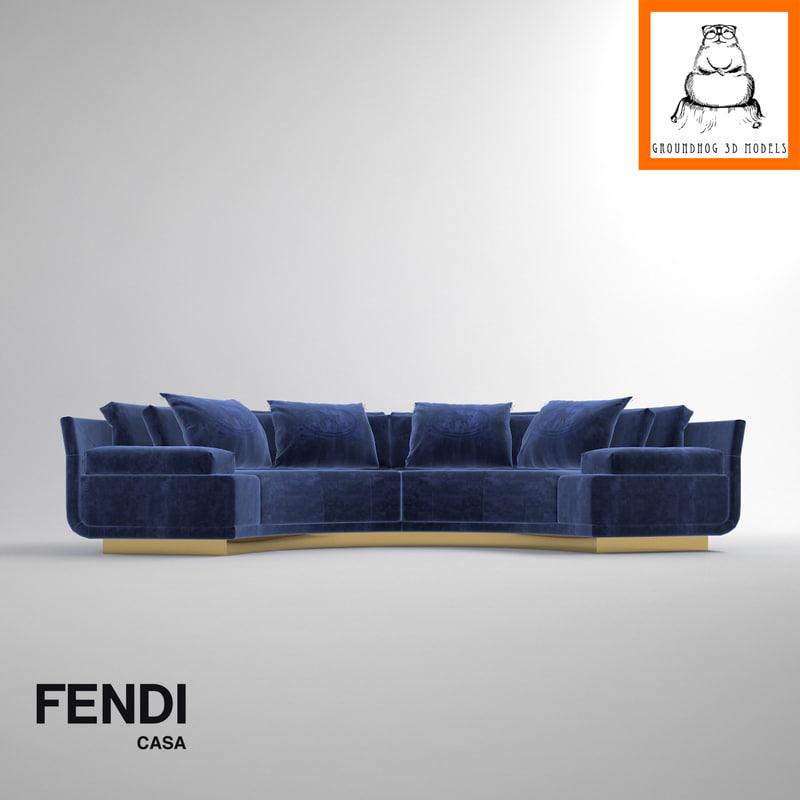 Astonishing Groundhog 3D Models Fendi Casa Artu Sofa Alphanode Cool Chair Designs And Ideas Alphanodeonline