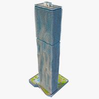 3d max aqua skyscraper