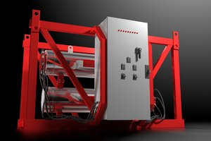 3d model of industrial circulation heater