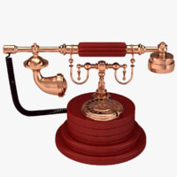 3d model of antique phone