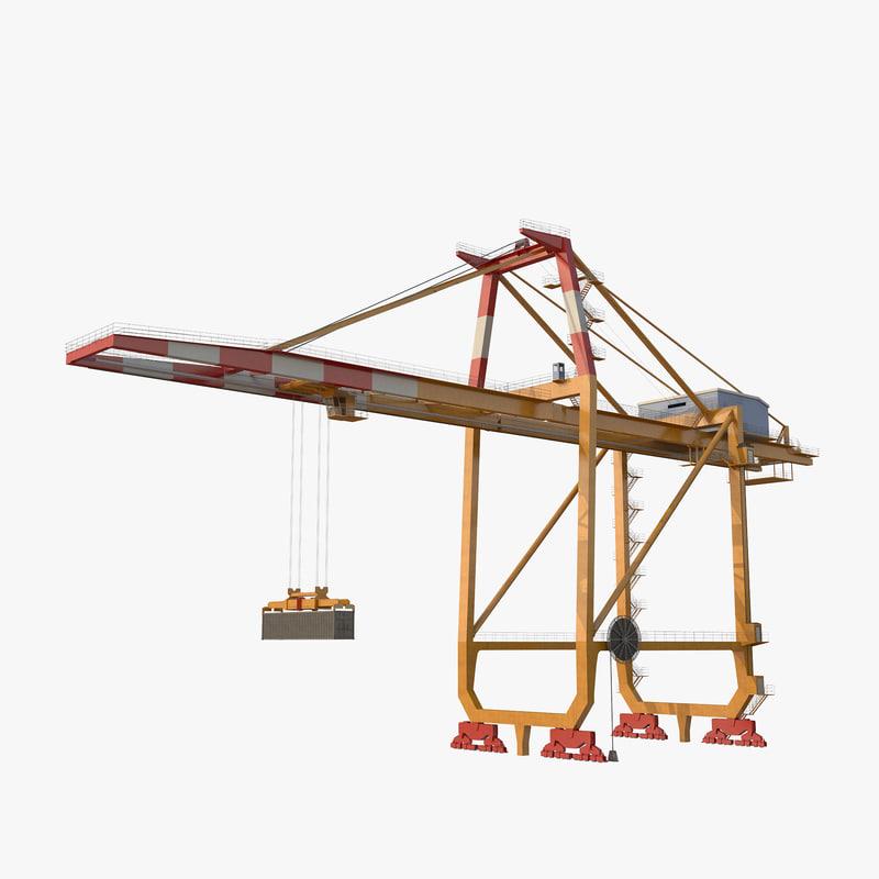 3d container crane v2 model