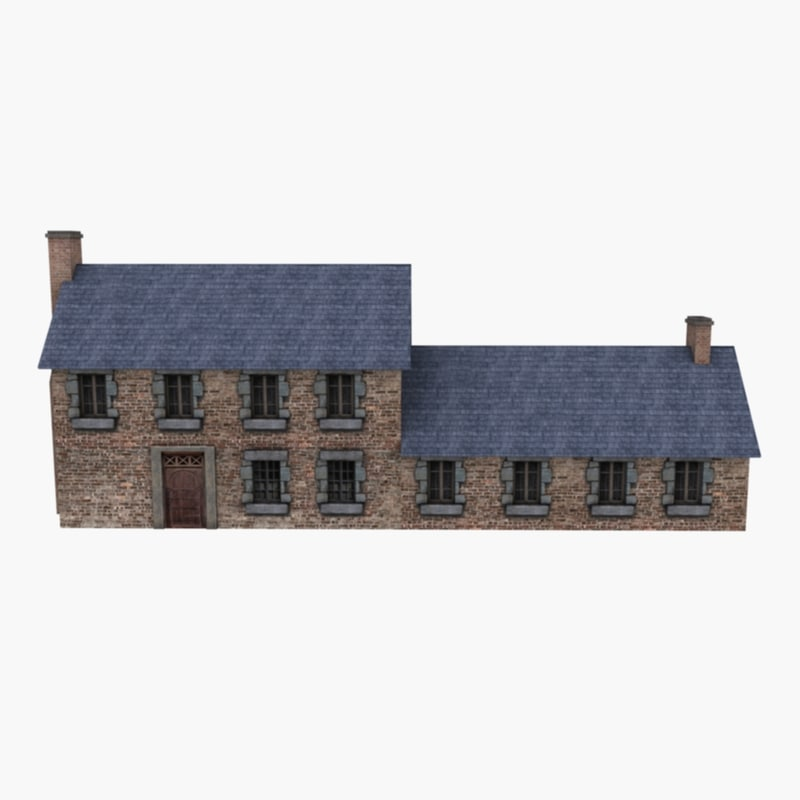 european country house 3d model