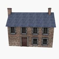 3d obj european country house