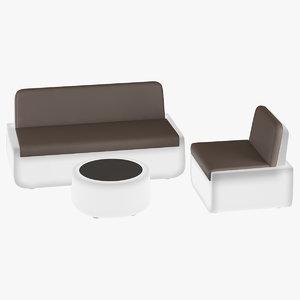 3d max armchair sofa light bold